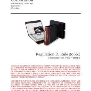 Private Placement Memorandum, Corporations, Rule 506(c)