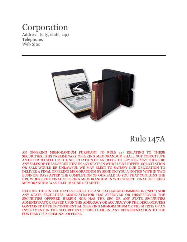 Offering Memorandum Corporate Intrastate