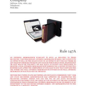 Offering Memorandum, LLC Intrastate Offering