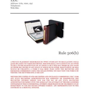 PPM LLC Rule 506(b)